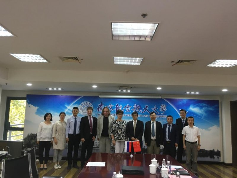 Strengthening Cooperation between SUAI and Nanjing University of Aeronautics and Astronautics